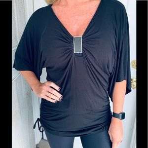 WHBM Hip Hugging Figure Flattering Ruched Tunic